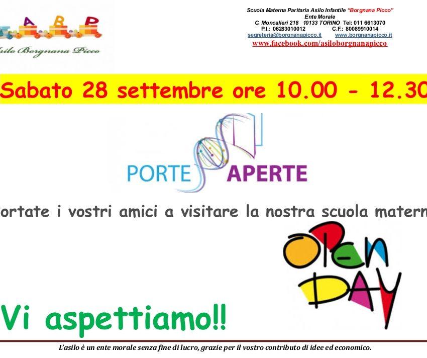 Porte Aperte Asilo Scuola Materna Borgnana Picco Torino